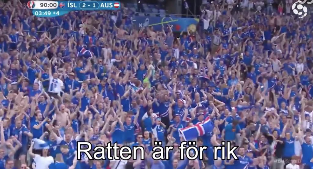 Islands galna kommentator – nu med svensk text!