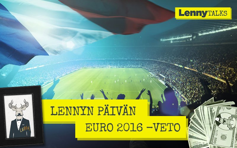Lennyn päivän EURO 2016 -veto – Maalintekijä ottelussa Portugali–Wales