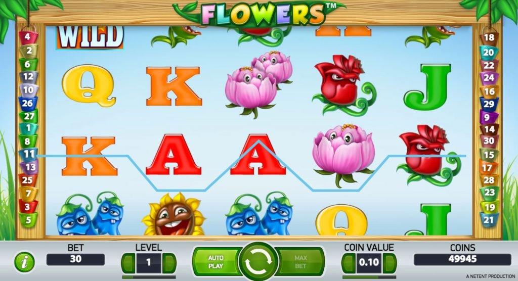 Flowers Kasinopeli