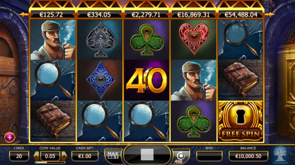Holmes and the Stolen Stones Casino Game