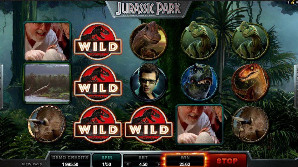 Jurassic Park Spelautomat