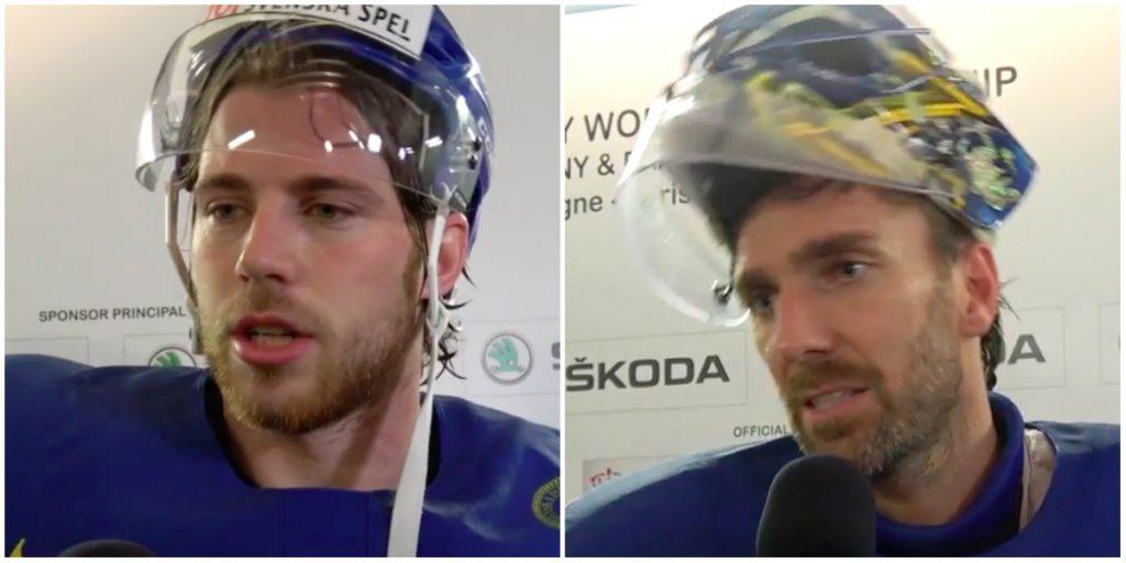 Elias Lindholm och Henrik Lundqvist om lördagens match mot Finland