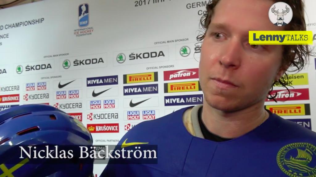 Detta säger Nicklas Bäckström om sin första match i VM