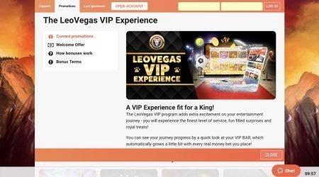 Leo Vegas VIP promotion