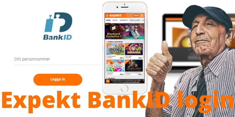 Expekt online casino BankID login.