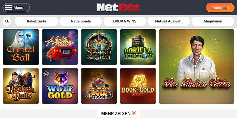 NetBet Slot Spiele