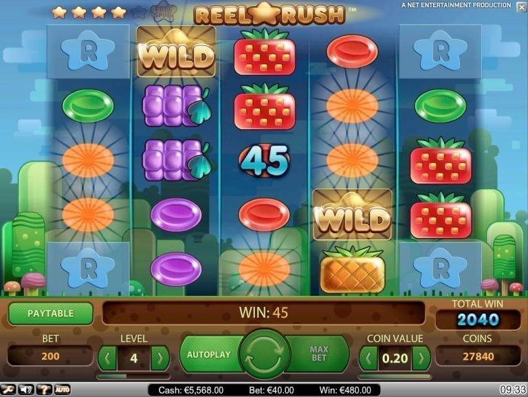 Reel Rush um Echtgeld & Kostenlos spielen