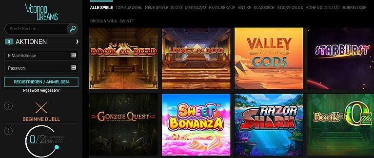 VoodooDreams Slot Spiele