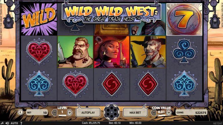 Wild Wild West The Great Train Heist Spielautomat