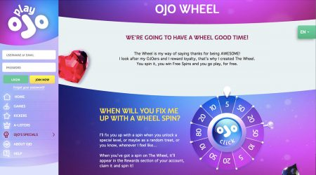 Playojo wheel spin for free spins