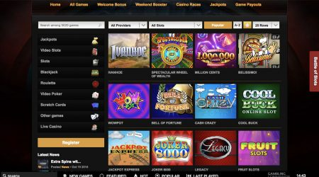 Video Slots game selection