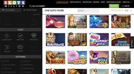 Slot Million casino games