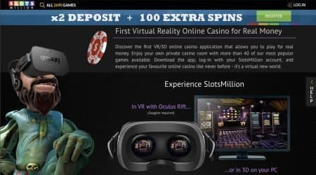Slots Million virtual reality casino