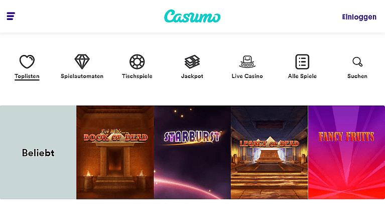 Casumo Casino Spiele