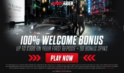 Spin Rider welcome offer