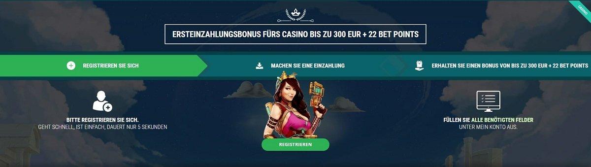 22Bet Casino willkommensbonus