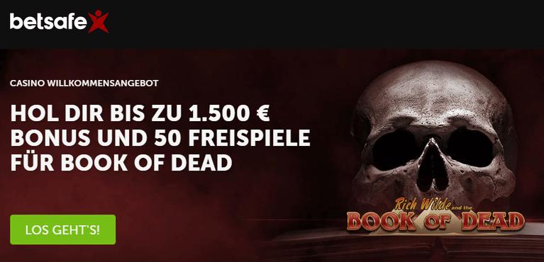Betsafe Casino Bonus für Neukunden