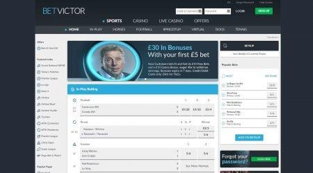 Betvictor sportsbook homepage
