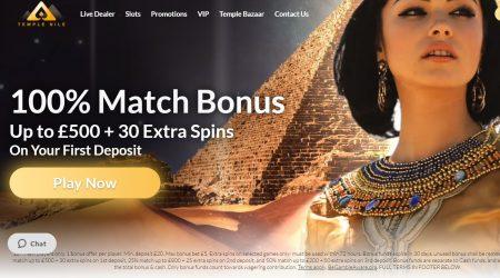 Temple Nile Casino Match Bonus