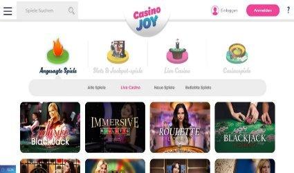 Live Casino im CasinoJoy