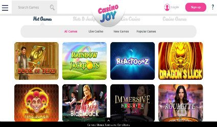 CasinoJoy homepage
