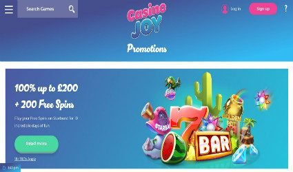 CasinoJoy promotion page