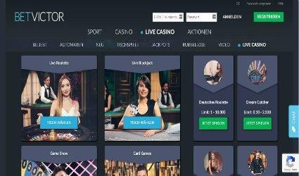 Live Casino am Betvictor