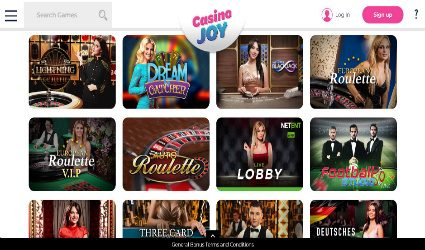 CasinoJoy live casino