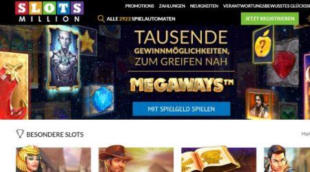 Slotsmillion homepage