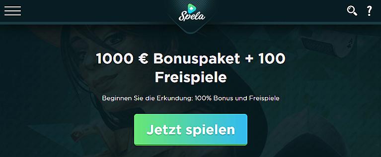 Spela Casino Willkommensbonus