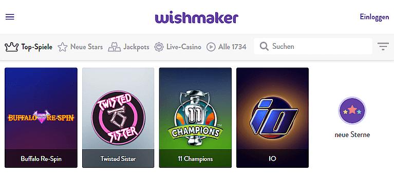 Wishmaker Casino Spiele
