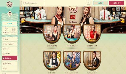 Live Casino at Casino 777