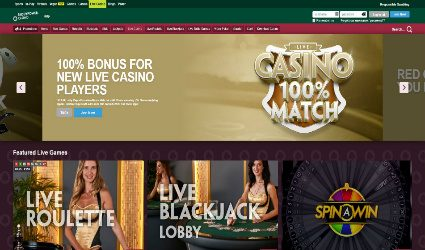 Live Casino at paddy power