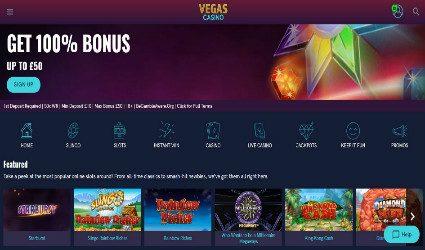 Vegas Casino homepage