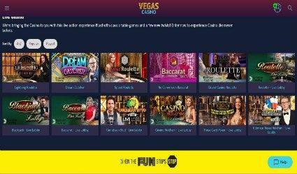 Live Casino at Vegas Casino
