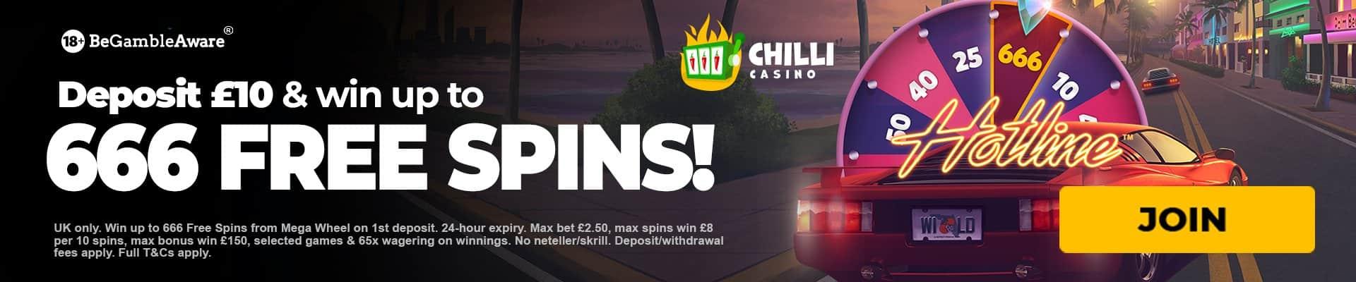 Chili casino free spins