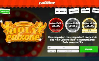 Holy Calzone Rad mit verschiedenen Gewinnstufen