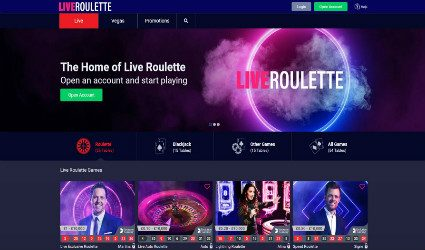 Live Roulette live casino tables
