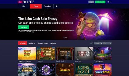 Casino games offering at Live Roulette casino