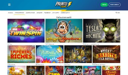 Pronto Casino kasinopelit