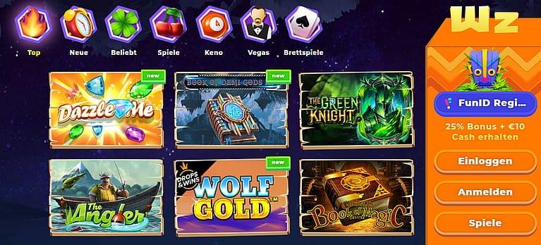 Wazamba Slot Spiele
