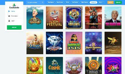 Casilando's online slot games
