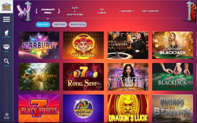 Spieleübersicht im Casino Gods