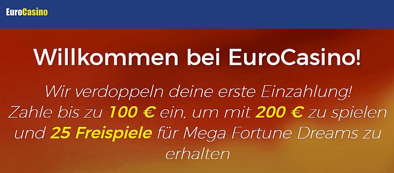 CasinoEuro Bonus für Neukunden