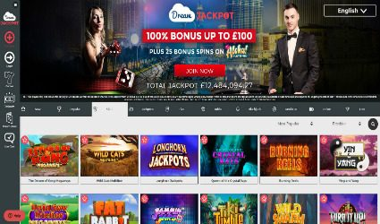 Jackpots Slots at Dream Jackpot casino