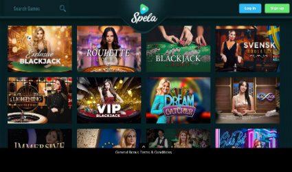Live Casino rooms at Spela