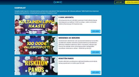 Casonic casino tarjoaa vaihtuvia tarjouksia