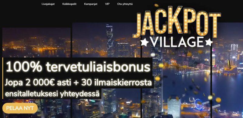 Jackpot Village tervetuliaisbonus
