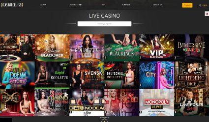 Casino Cruise live casino selection