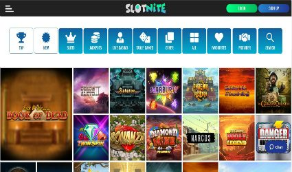 Slotnite Casino game offering